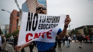 Manifestación contra la reforma de la educación.