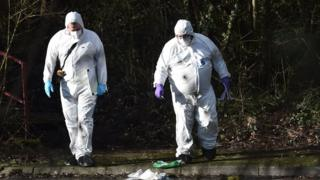 The forensic team arriving to examining the scene in Craigavon