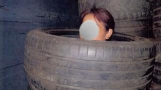 Katy Bethel nói bà không hề biết có người nhập cư người Việt ở trên xe