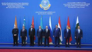 رهبران کشورهای عضو سازمان همکاریهای شانگهای در نشست ۲۰۱۷