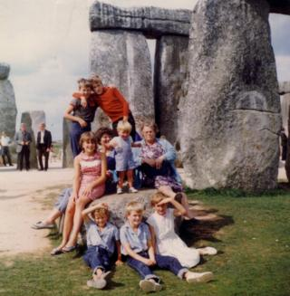 Suzie Deaves' family in 1967