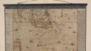 The fully restored 17th Century map