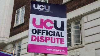UCU dispute placard