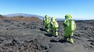 """Researchers living near the active Hawaiian Volcano Mauna Loa are simulating what it's like to """"live"""" on Mars."""