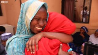 Zainab Aliyu hapi to see her family