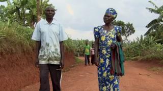 Anne-Marie e Celestin, em Ruanda