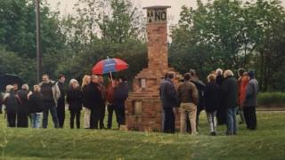 Bedfordshire Against Nuclear Dumping monument