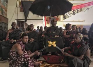 Mourners in Ghana