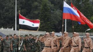قوات روسية وسورية