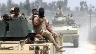 قوات من الجيش المصري في سيناء