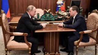 Президент Путин ва Бош вазир Дмитрий Медведев