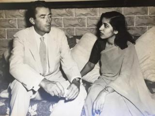 Gulshan Ewing with Gregory Peck