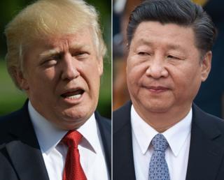 美国总统特朗普与中国国家主席习近平