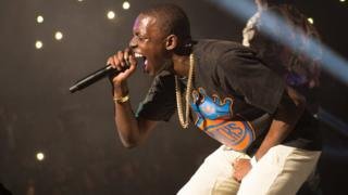 File photo, Bobby Shmurda performs at Power 105.1's Powerhouse 2014 at the Barclays Center in the Brooklyn borough of New York.