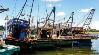 Tàu cá Việt Nam bị Thái Lan bắt hồi tháng Tám 2016