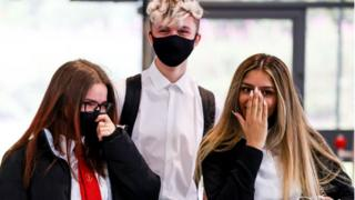 pupils wearing face coverings