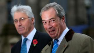 Nigel Farage with UKIP candidate John Bickley