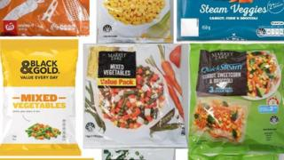 Some of the affected frozen vegetable products