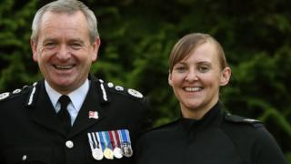 PC Kenneth McKenzie, PC Laura Sayer and Chief Constable Iain Livingstone
