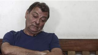 Former left-wing militant Cesare Battisti during an interview with AFP in Brazil in 2017