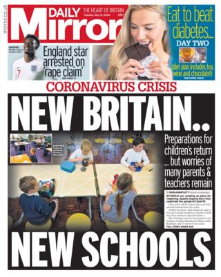 Daily Mirror front page 19/05/20