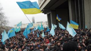 Проукраинский митинг в Крыму