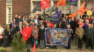 Dorset council protests