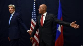 John Kerry and Michel Martelly