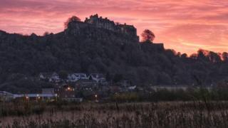 Sunrise over Stirling Castle
