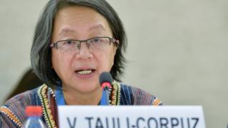 """Relatora especial das Nações Unidas sobre os direitos dos povos indígenas, Victoria Tauli-Corpuz alertou para riscos de """"etnocídio"""" em março"""
