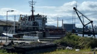 The Alexander Tvardovskiy in the Port of Leith