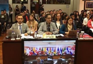 Audiencia del caso en la Corte Interamericana de Derechos Humanos.