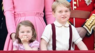 Princess Charlotte and Prince George