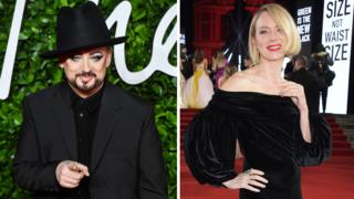 Boy George and Naomi Watts