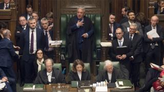 Speaker John Bercow (centre) in the Commons