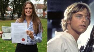 Laura Matthews and Luke Skywalker