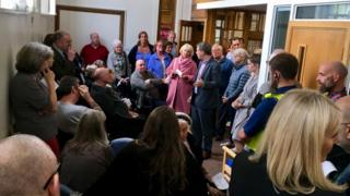 Residents confront Newcastle City Council bosses at a meeting over the future of Fenham Library