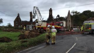 Fire crews at scene of blaze