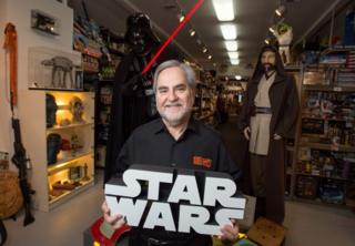 Steve Sansweet, owner of Rancho Obi-Wan, the world's largest private collection of Star Wars memorabilia, pictured on 24 November, 2015