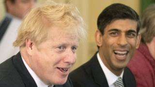 Boris Johnson and his new Chancellor Rishi Sunak