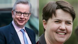 Michael Gove and Ruth Davidson