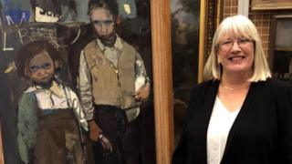 Margaret Livingstone with painting