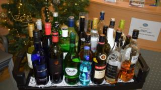 Drinks trolley at the hospice