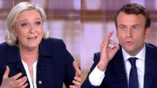 Марин Ле Пен жана Эммануэль Макрон теледебаттар учурунда бири-биринин дарегине курч сөздөрдү багыттады