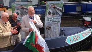 The Vale of Llangollen Boat Trust launches their new boat