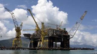 Petrobras oil platform in construction near Angra dos Reis