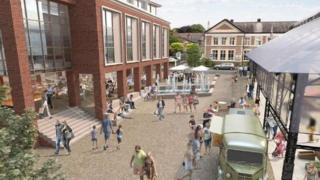 Artist's impression of the hub