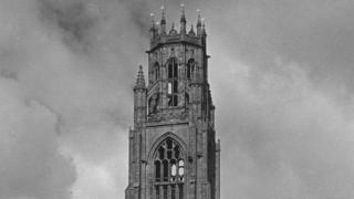 "The top of the Boston ""stump"", photographed in 1930"