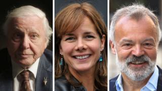 David Attenborough, Darcey Bussell and Graham Norton