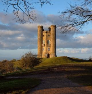 A tower on a hill
